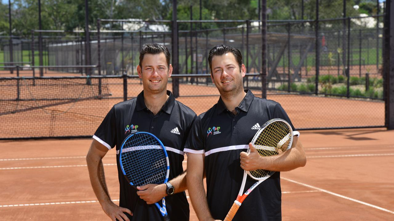 Top of Tennis Academy officials Zac and Lincoln Remar. Manager Zac is excited about a new cash format being run at the Alder Centre. Picture: David Nielsen