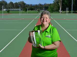 Long-serving Ipswich netball official Gail Lyne has