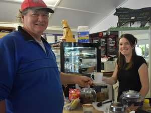 Eungella resident Dale Fortescue buying his last cup
