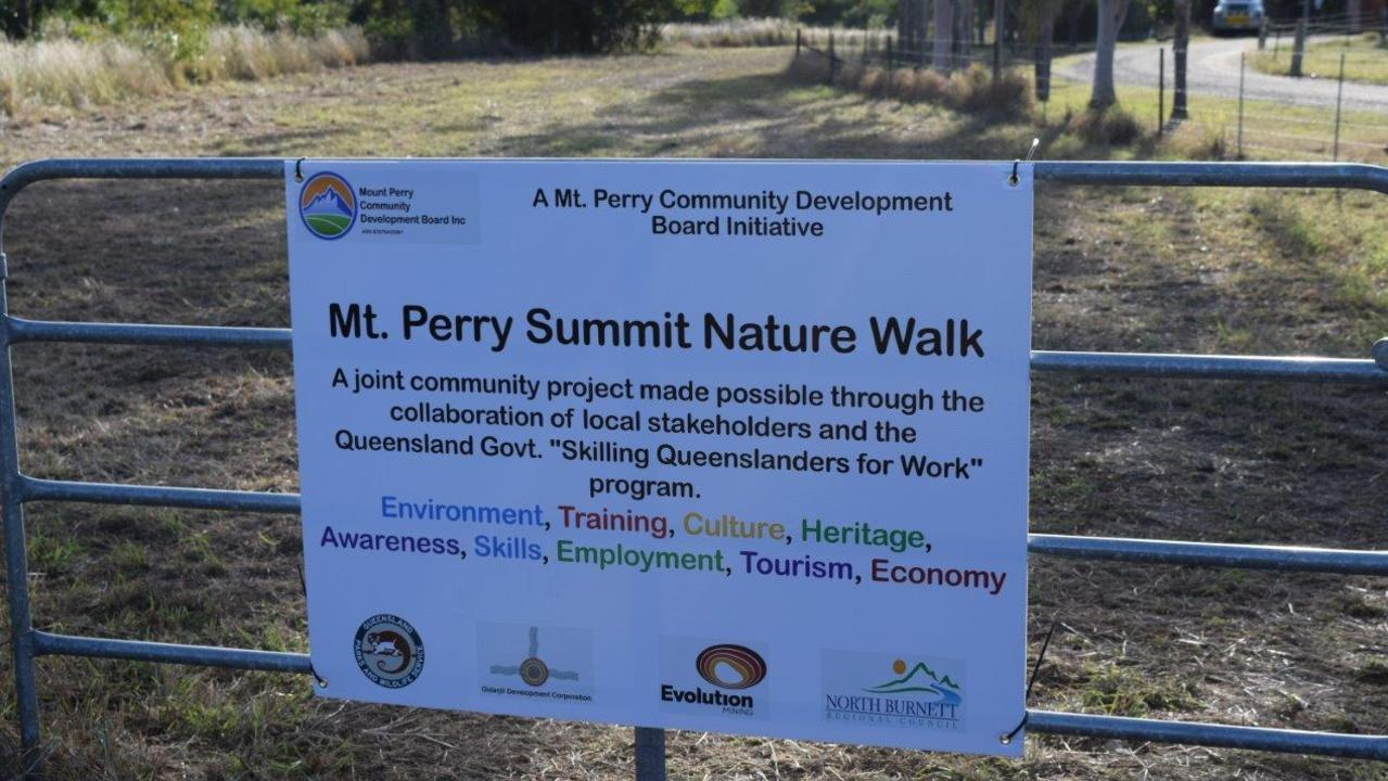 The launch of the Mt Perry Summit Nature Walk took place on June 29. Picture: Contributed