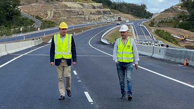 Page MP Kevin Hogan and Clarence MP Chris Gulaptis have joined forces to improve roads in the Clarence Valley.