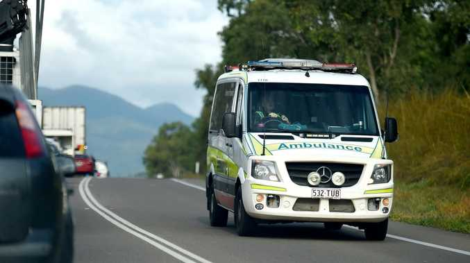 Teen hospitalised after trapping hand in motorbike