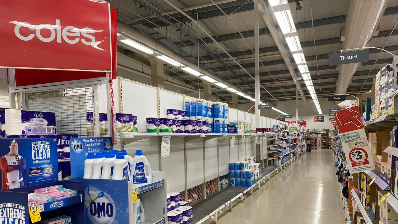 FILE: The toilet paper aisle in Coles. Picture: File image.