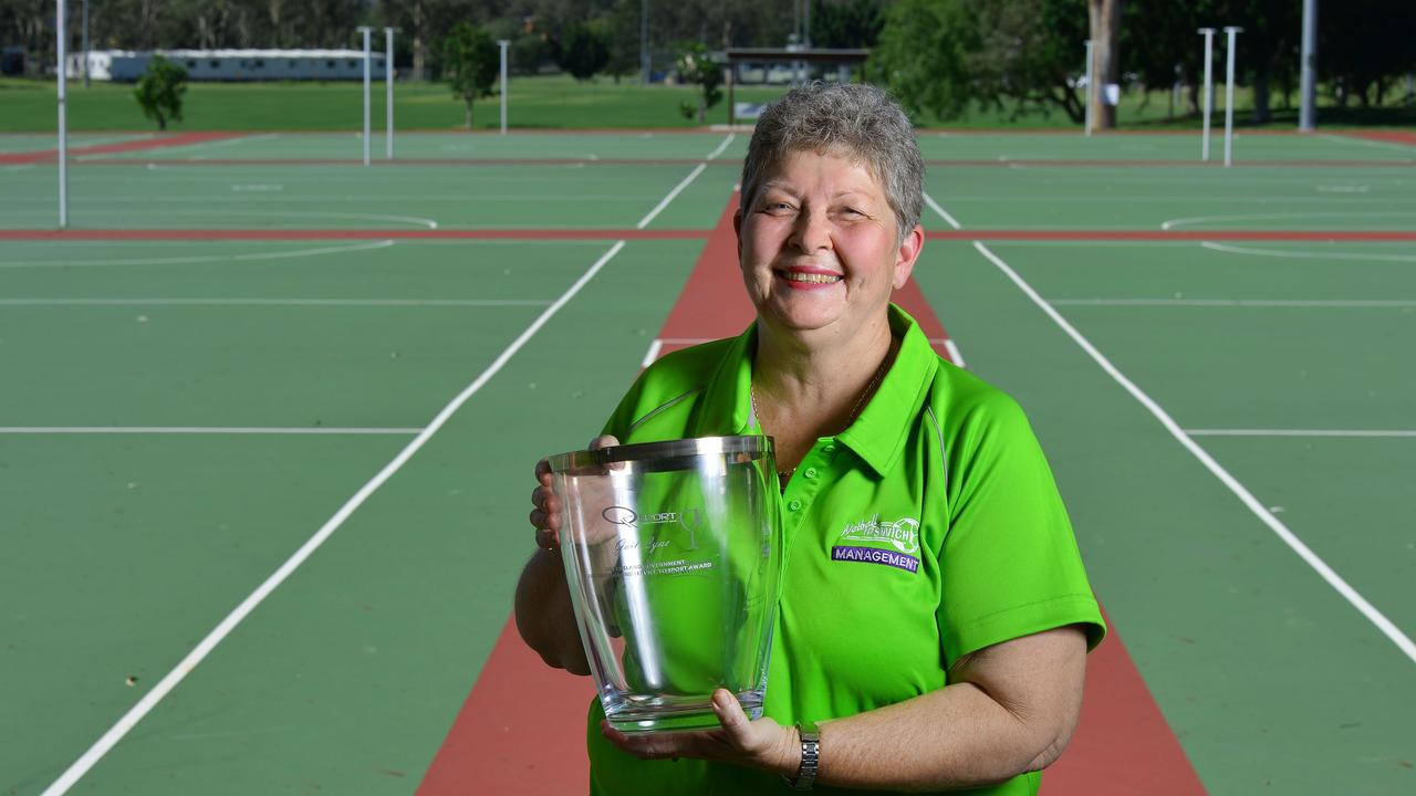 Long-serving Ipswich netball official Gail Lyne was awarded a Queensland Service to Sport Award. Picture: David Nielsen