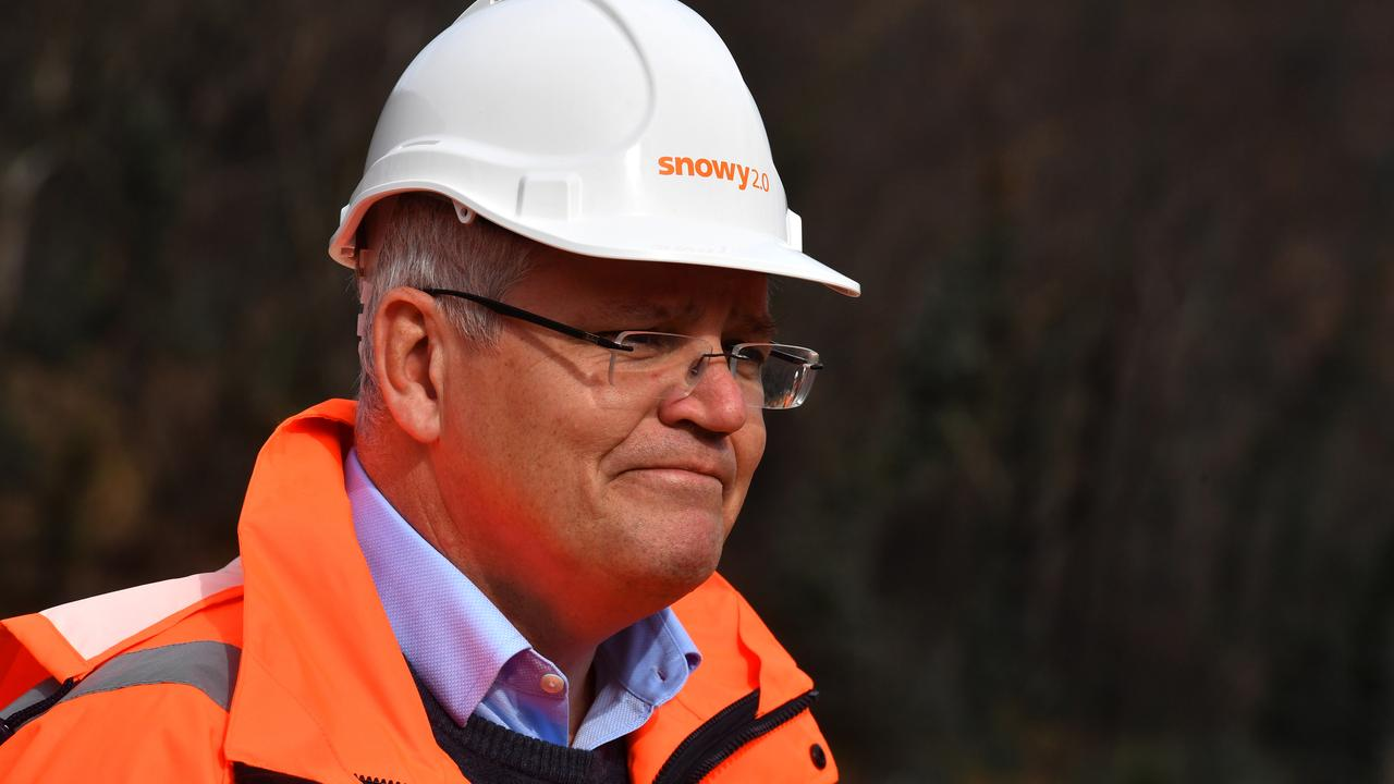 Prime Minister Scott Morrison in the Snowy Mountains on Tuesday. Picture: Mick Tsikas