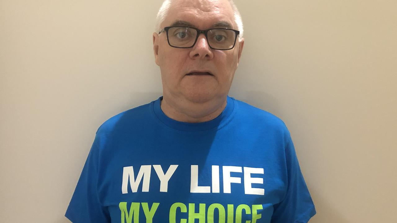 Dying With Dignity Fraser Coast co-ordinator, Phil Browne.