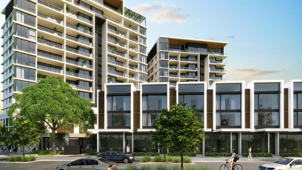An artist's impression of Habitat Development Group's Market Lane Residences at the Maroochydore City Centre.