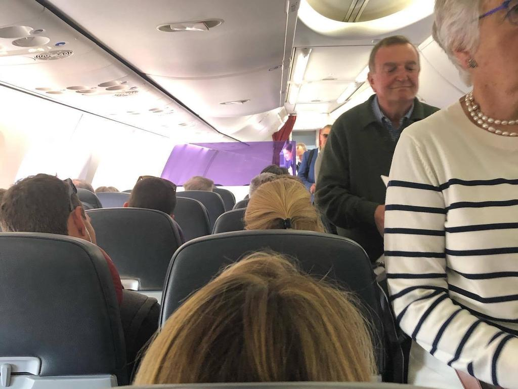A packed Virgin Australia flight from the Gold Coast to Sydney. Photo: Evan Stray