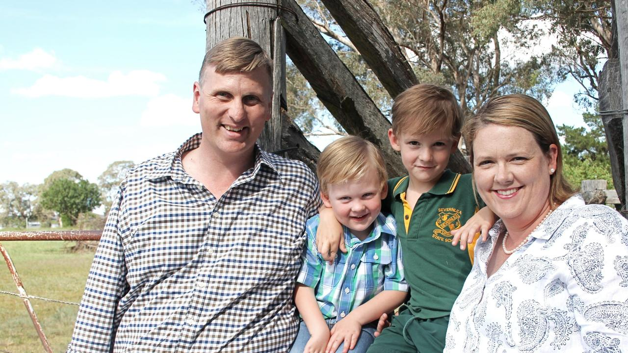 STAYING TOGETHER: Southern Downs MP James Lister with his wife Belinda and their two sons William and Jeremy. Picture: contributed