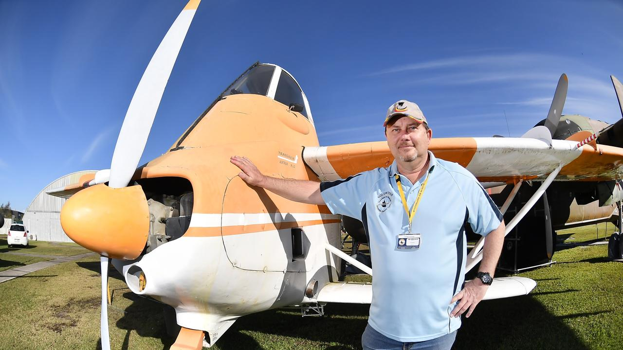 PETITION: Queensland Air Museum president Cameron Elmes said their collection has outgrown the museums current land on Pathfinder Drive and it is vital the facilities are expanded. Photo Patrick Woods / Sunshine Coast Daily.