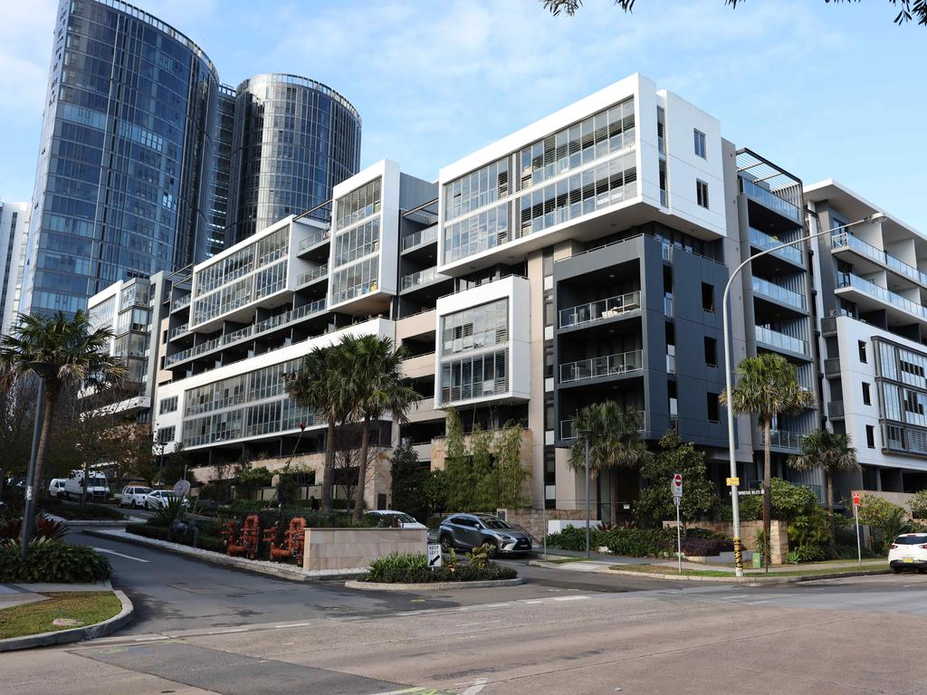 The apartment complex in Wentworth Point where Mr Thagipur was killed. Picture: David Swift