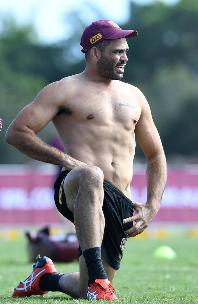 "Greg Inglis is ""training the house down"" and ""looking ripped,"" according to his new English league club. Picture: AAP"
