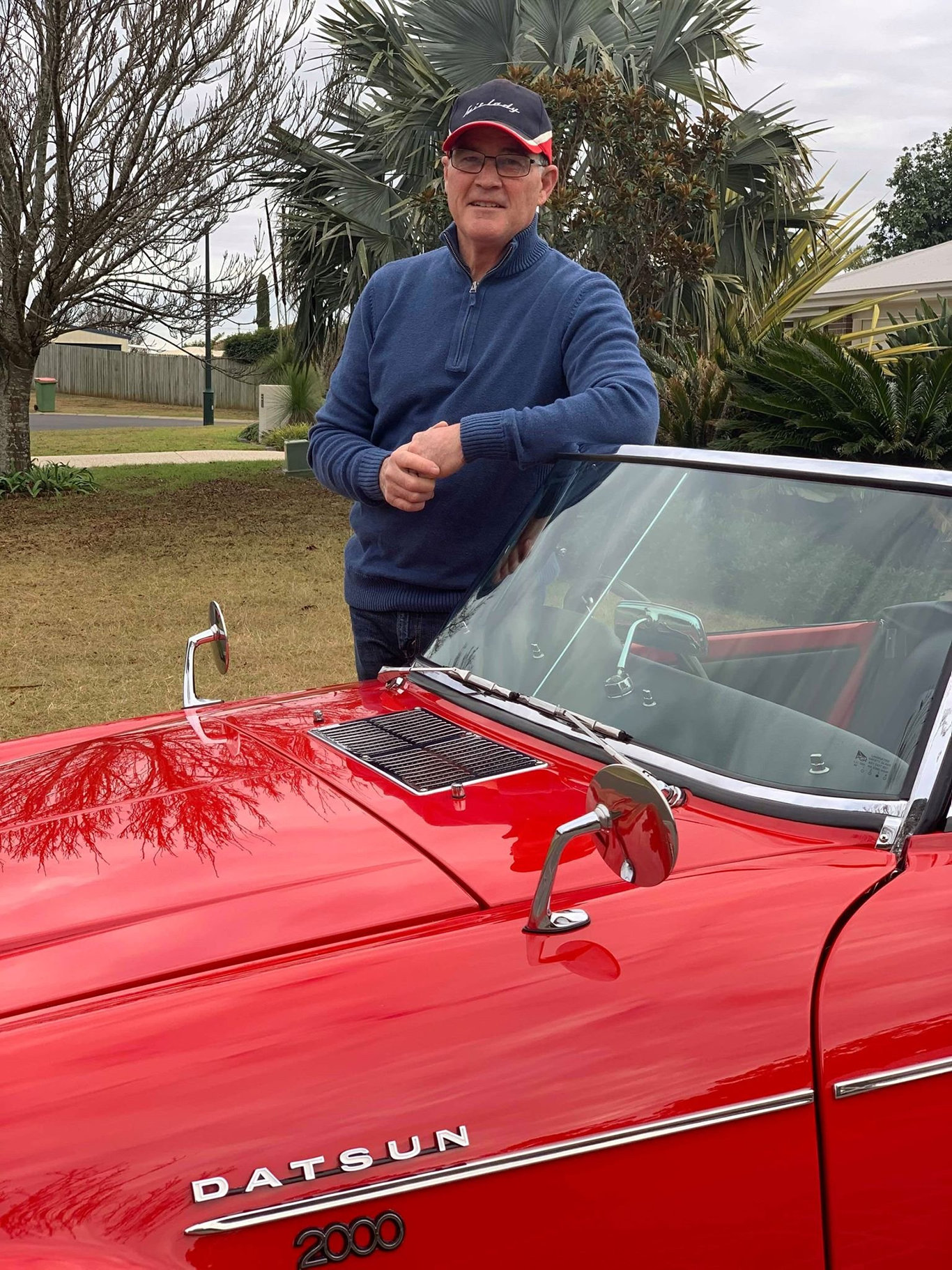 On the weekend, the Datsun Sports Owners Association of Queensland visited Toowoomba. Bill Cahill with his restored 1965 Datsun Fairlady.