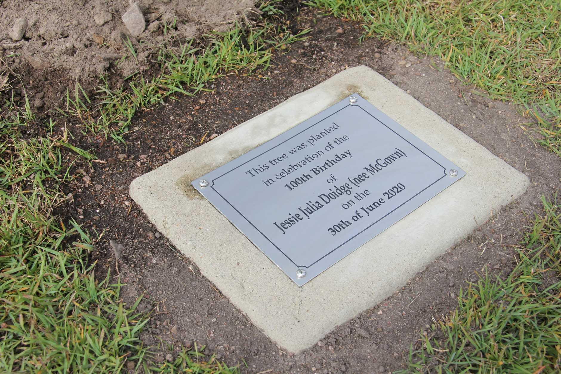 Jessie Doidge's plaque.