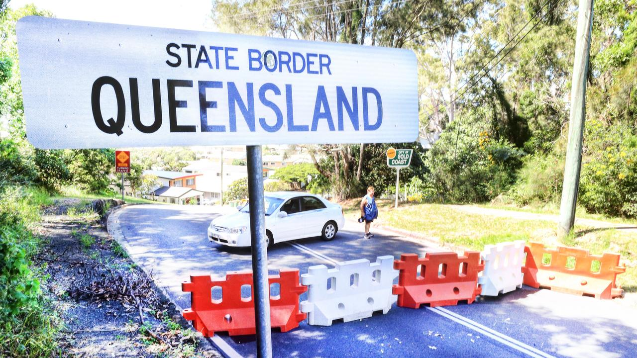 The Queensland Border at Tweed Heads .Photo: Scott Powick Newscorp