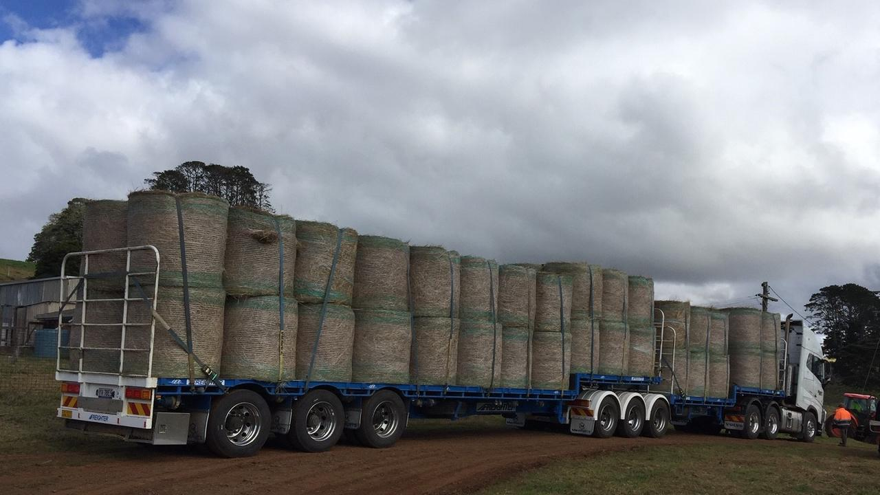 Truck load of hay being donated to Killarney producers.