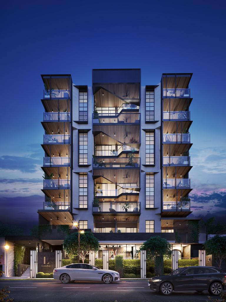 An artist's impression of the London residences at West End.