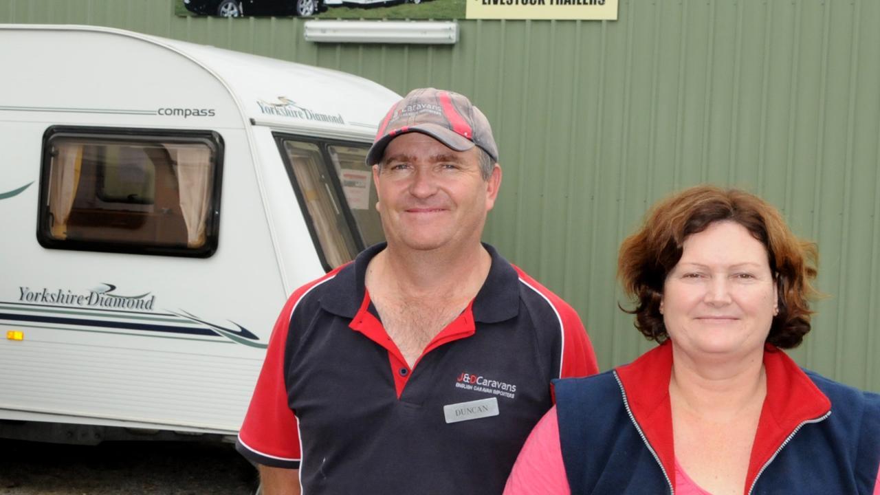 J & D Caravans owners Duncan and Jayne Bennett. Photo Tanya Easterby