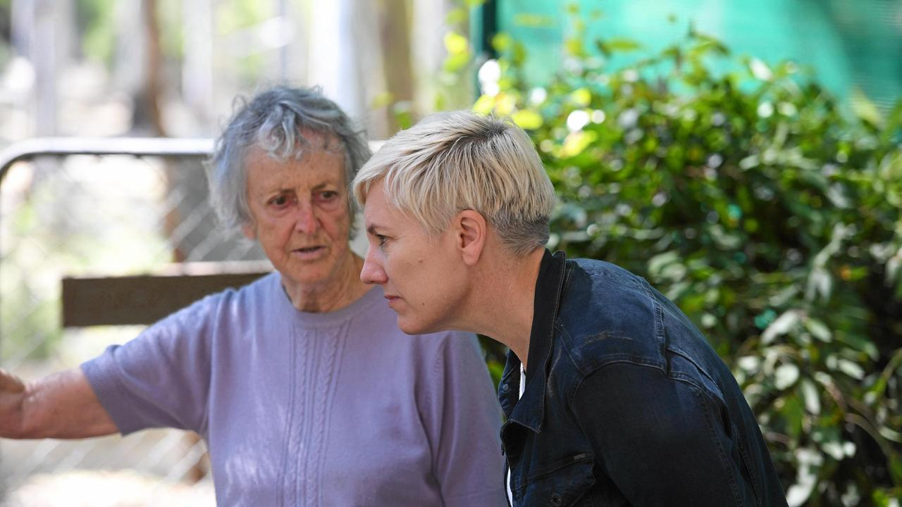 Greens MP Cate Faehrmann – Chair of the NSW Parliamentary Inquiry into Saving the Koala, visits Friends of the Koala in Lismore last month and chats with president Ros Irwin. Picture: Marc Stapelberg