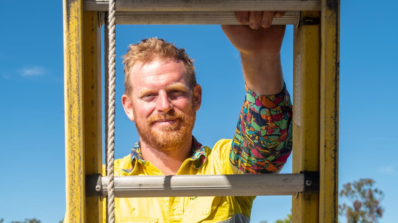 Liam Seiler from Redshaw Plumbing and Drainage (Gatton). PHOTO: ALI KUCHEL