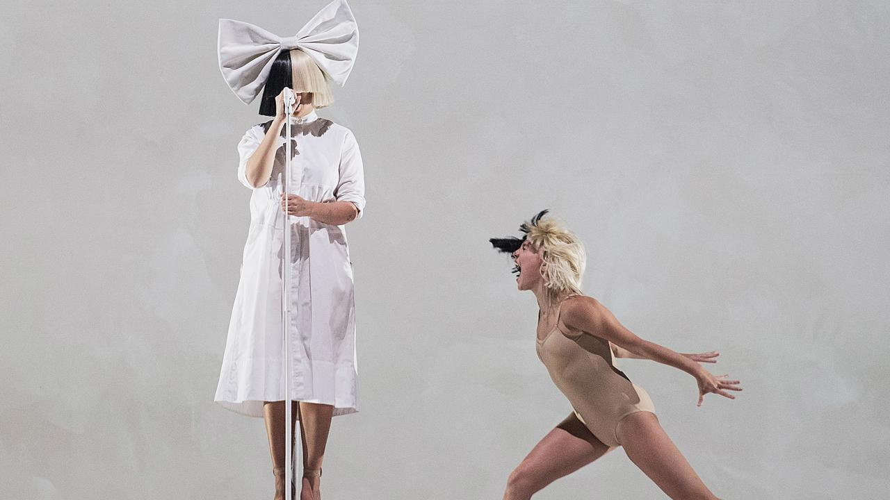 Sia and Maddie Ziegler on stage. Pic: Mat Hayward/Getty Images
