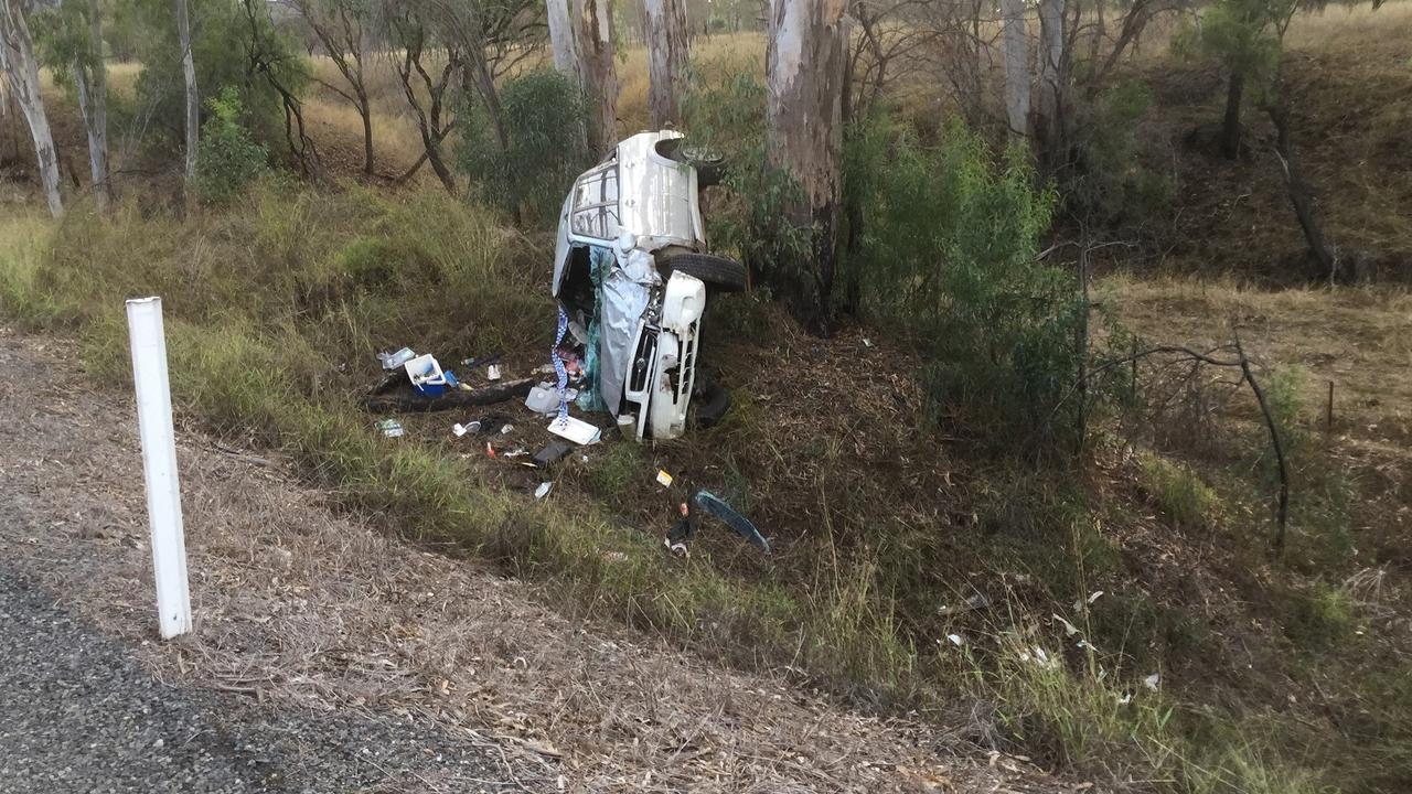 The scene of the wreckage along the Burnett Hwy on June 20. Picture: Contributed