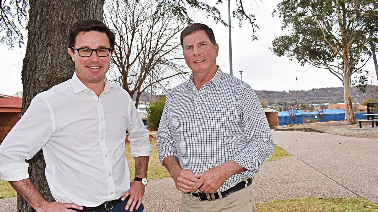 Minister for Drought David Littleproud and Brent Finlay, chair of the Future Drought Fund Consultative Committee.