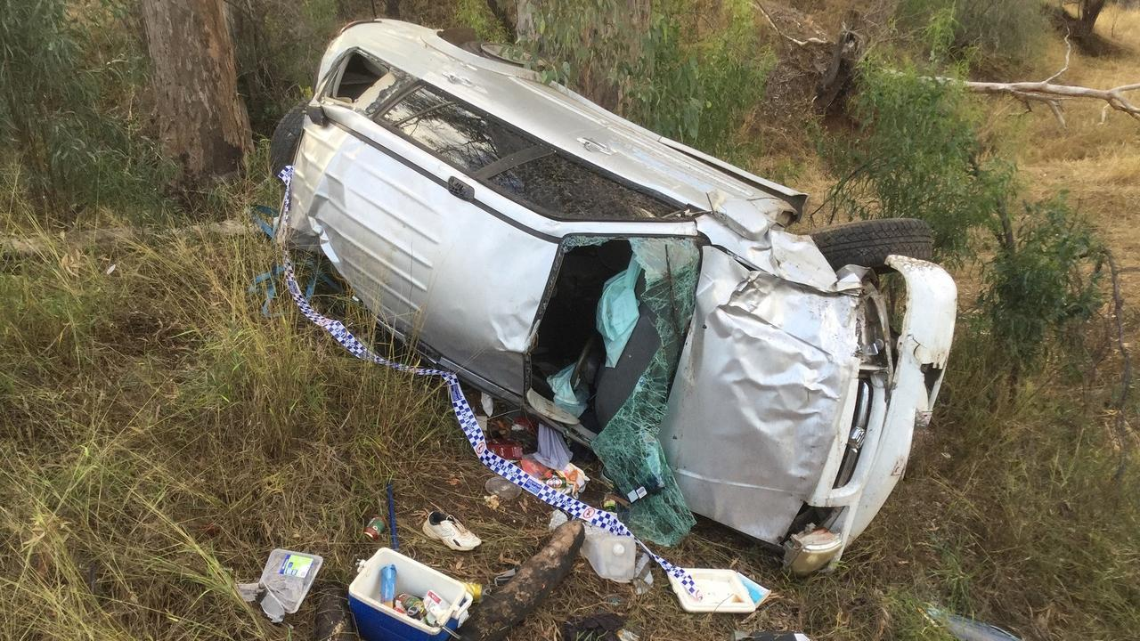 WARNING TO DRINK DRIVERS: A crash along the Burnett Hwy on June 20, with the driver's blood alcohol sent away for tests. Picture: Contributed