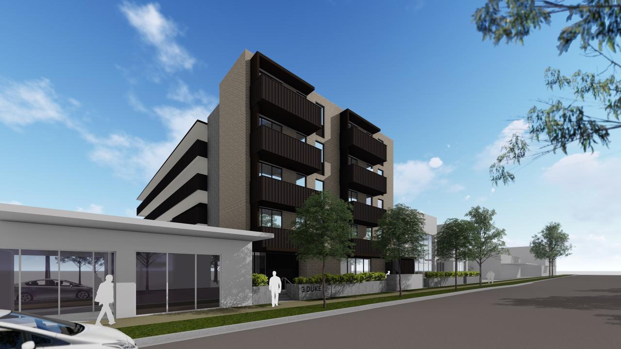 An artist impression of Mission Australia's planned social housing development on Duke St. Mission Australia CEO James Toomey said it will provite vital community infrastructure.