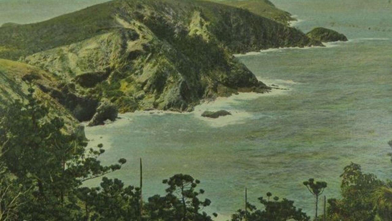 A postcard of Rough Bay, Percy Island.