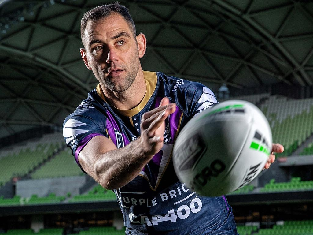 Melbourne Storm players hope to play their first home games out of the Sunshine Coast. Pictured is Captain Cameron Smith. Picture: Mark Stewart