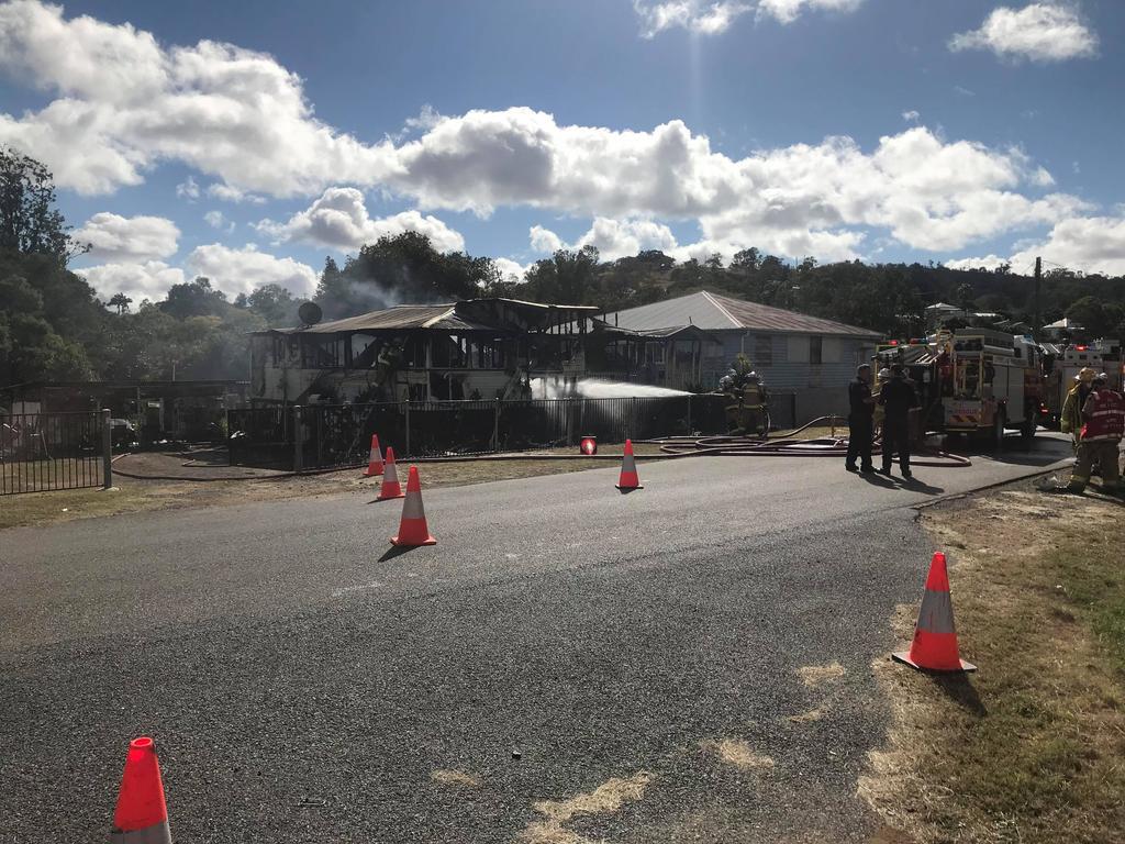 House fire in Bridge St, Mt Morgan.