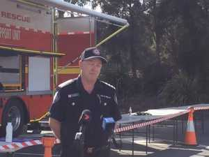 Inspector Kent Mayne addresses media before massive hazard reduction burn.