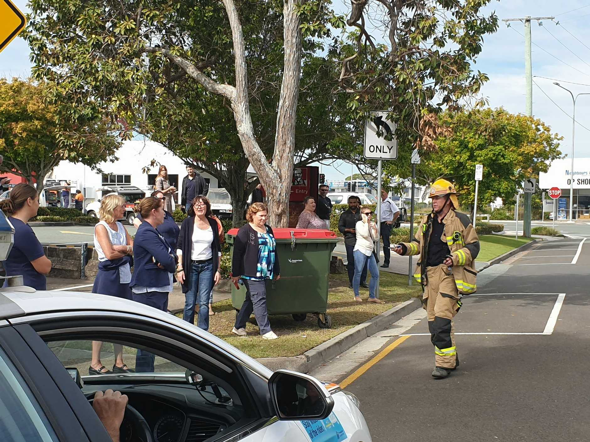 Multiple emergency services crews rushed to Maroochydore this morning after a