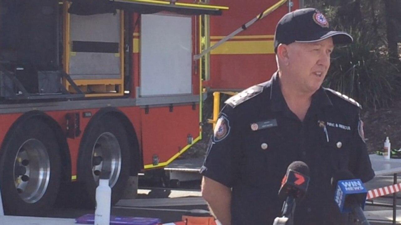 Inspector Kent Mayne addresses media before massive hazard reduction burn in Noosa.