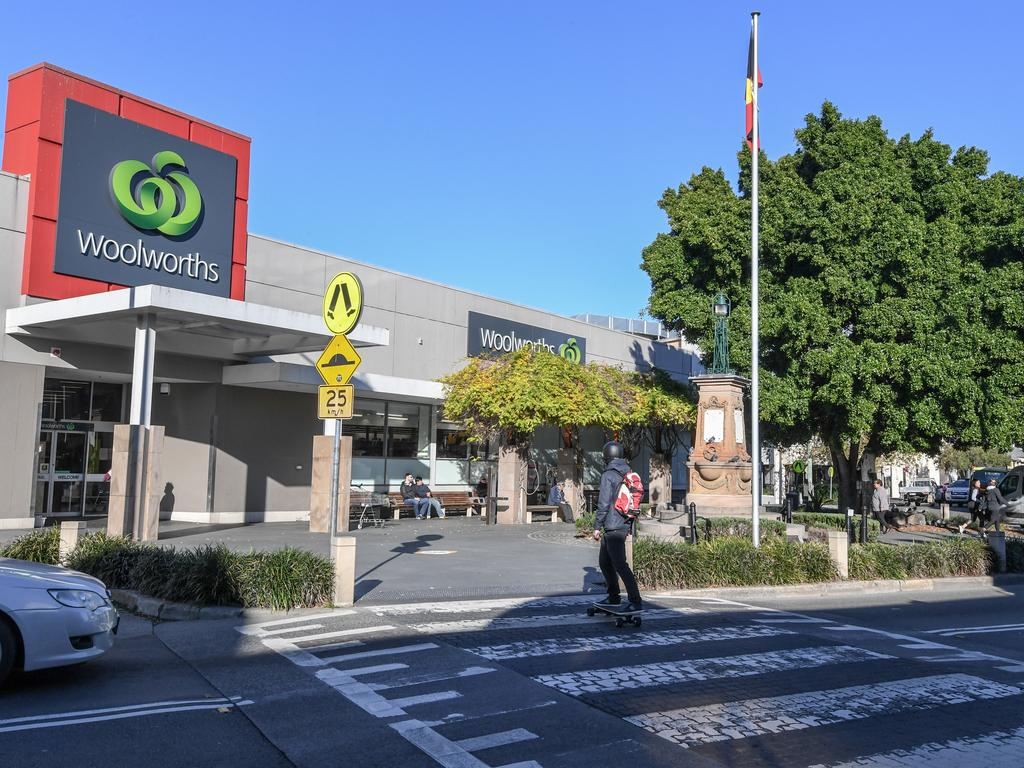 A worker at the Balmain Woolies has tested positive for coronavirus. Picture: Peter Rae/AAP