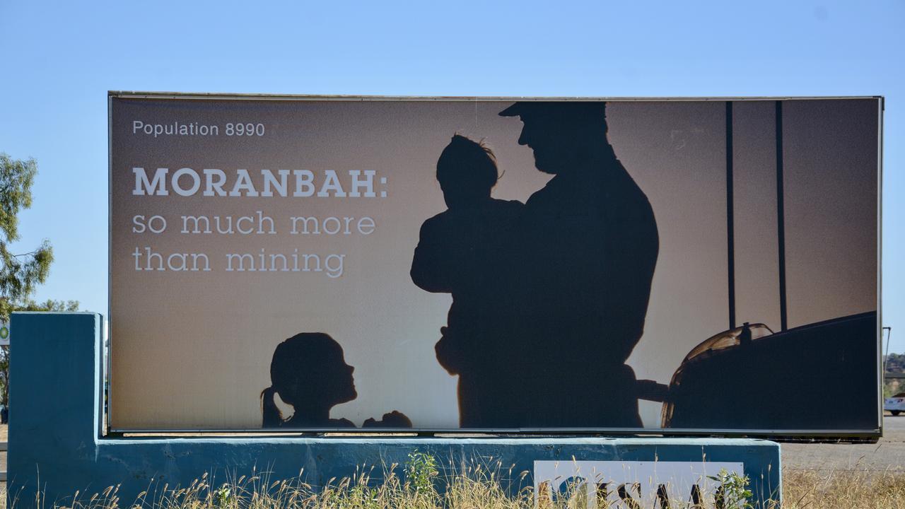 Moranbah town sign. Picture: Tara Miko