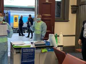 Virus woman took train to Sydney