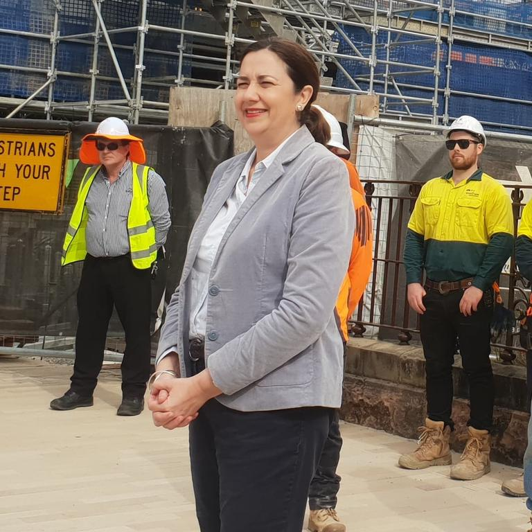 BUSINESS SUPPORTER: While she was in Rockhampton, Queensland Premier Annastacia Palaszczuk acknowledged the strong demand for her government's small business grants.