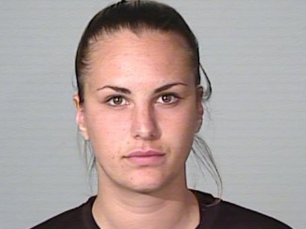 A photograph of Monique Marina Agostino, taken after a previous arrest, who was arrested by officers from Strike Force Raptor — a proactive police operation targeting outlaws motorcycle gangs and associated criminal enterprises — on Wednesday afternoon. Picture: NSW Police