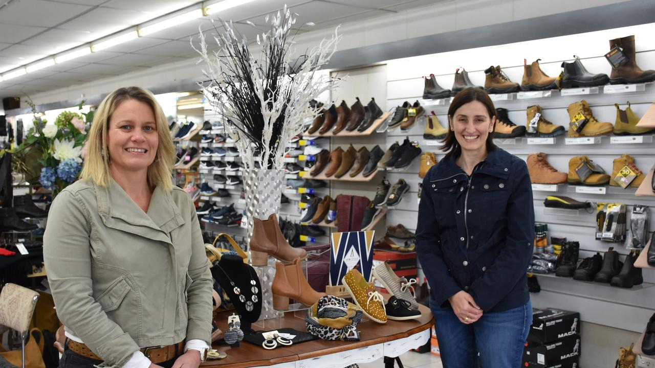 NEW BEGINNINGS: Lifestyle Footwear owners Julianne O'Brien and Alfina Gasbarin are happy to stay ahead of the restrictions, launching their online store.