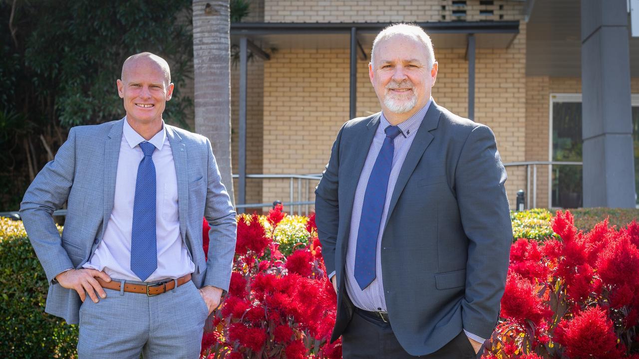 Mayor Glen Hartwig and new CEO Shane Gray.