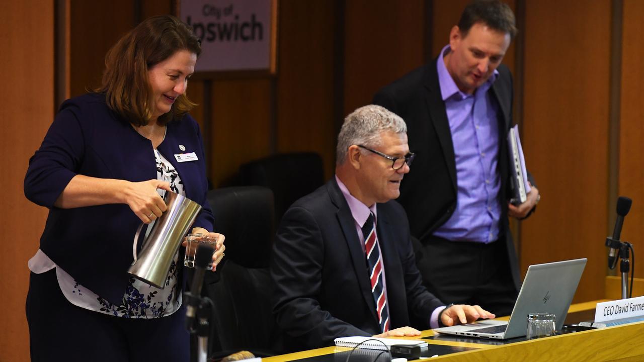 Ipswich City Council meeting held on Wednesday. Mayor Teresa Harding.