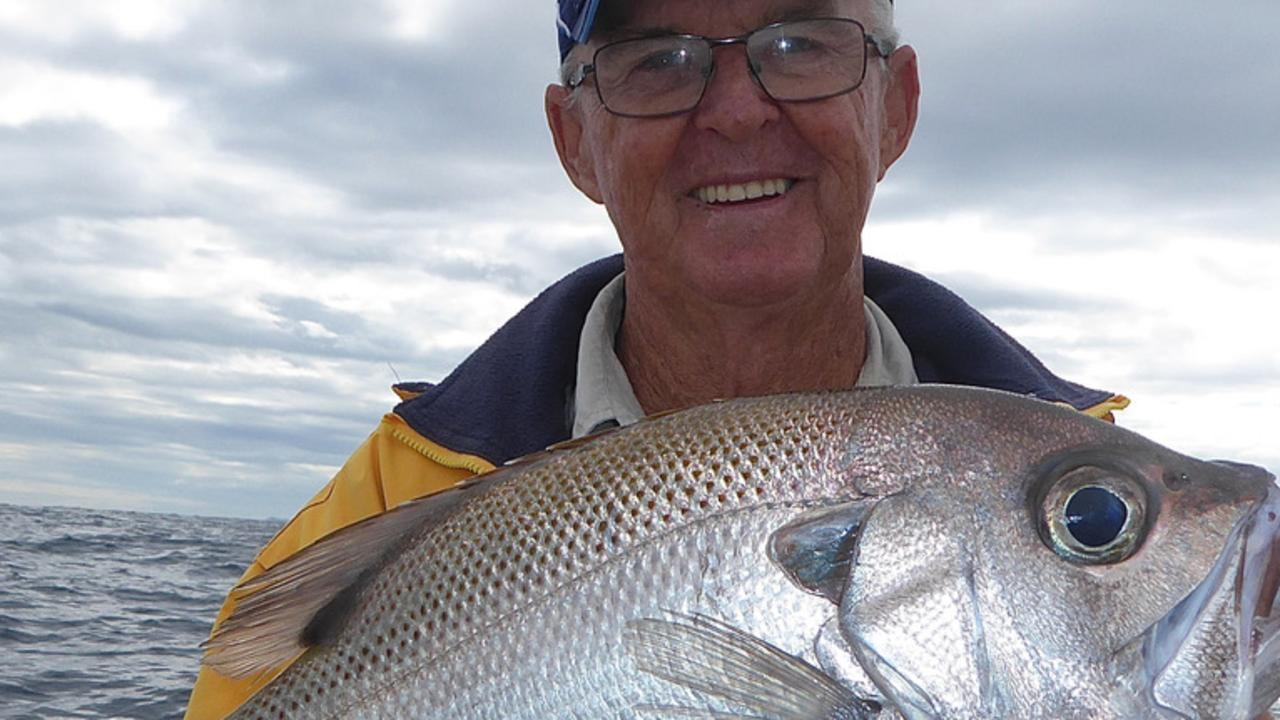 Wayne Young landed a quality pearl perch on the 24 fathom reef.