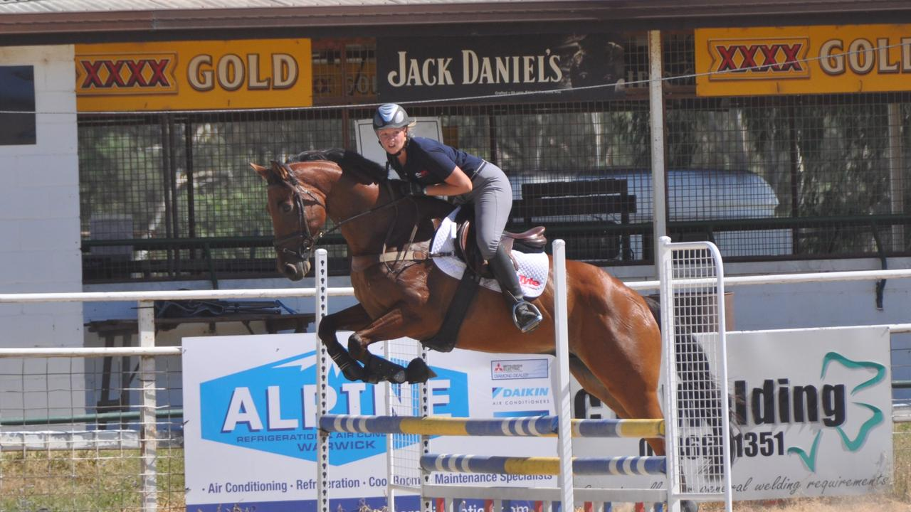 RIDING HIGH: Warwick rider Steph McConnell leapt over neigh- sayers to create her thriving business. Photo: Warwick Daily News