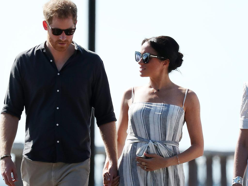 Prince Harry and Meghan Markle when she was pregnant. Picture: Liam Kidston