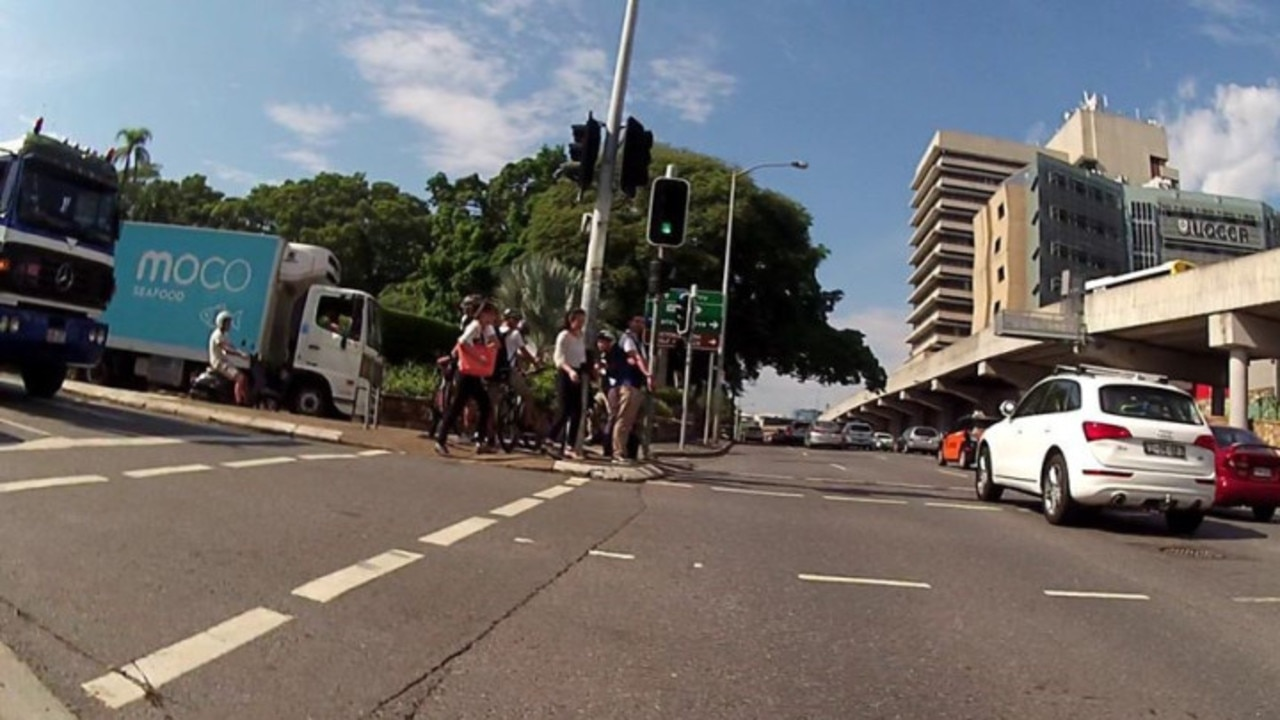 """The infrastructure there is inadequate for the number of people walking and cycling to the Royal Brisbane and Women's Hospital."" Supplied: Space for Cycling Brisbane"