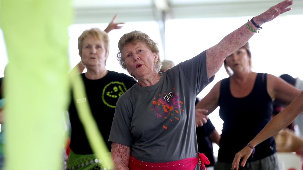 Daphne Stevenson of Edmonton has fun exercising with the Zumba Gold activity at the Positive Ageing Fair, as part of Seniors Week, which has been cancelled this year. PICTURE: STEWART McLEAN