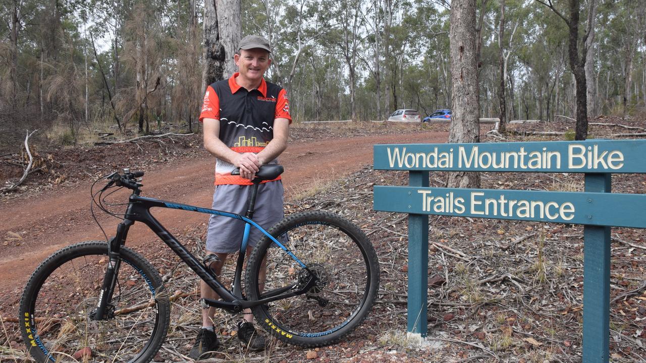 South Burnett MTB Club secretary Jason Wyeth at the popular Wondai MTB trails. (Picture: Tristan Evert)