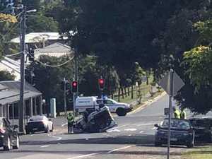 Man killed after car flips onto roof